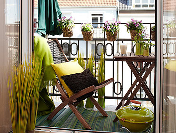 Bamboo stone balconies past and present for Cozy balcony ideas