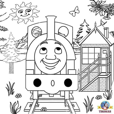 Boys coloring printable worksheets for kids Thomas the train and friends pictures Skarloey railway