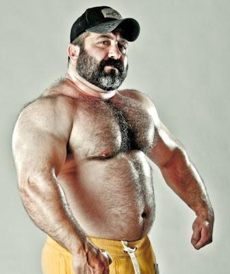 big gay beard - muscle mature gay daddies