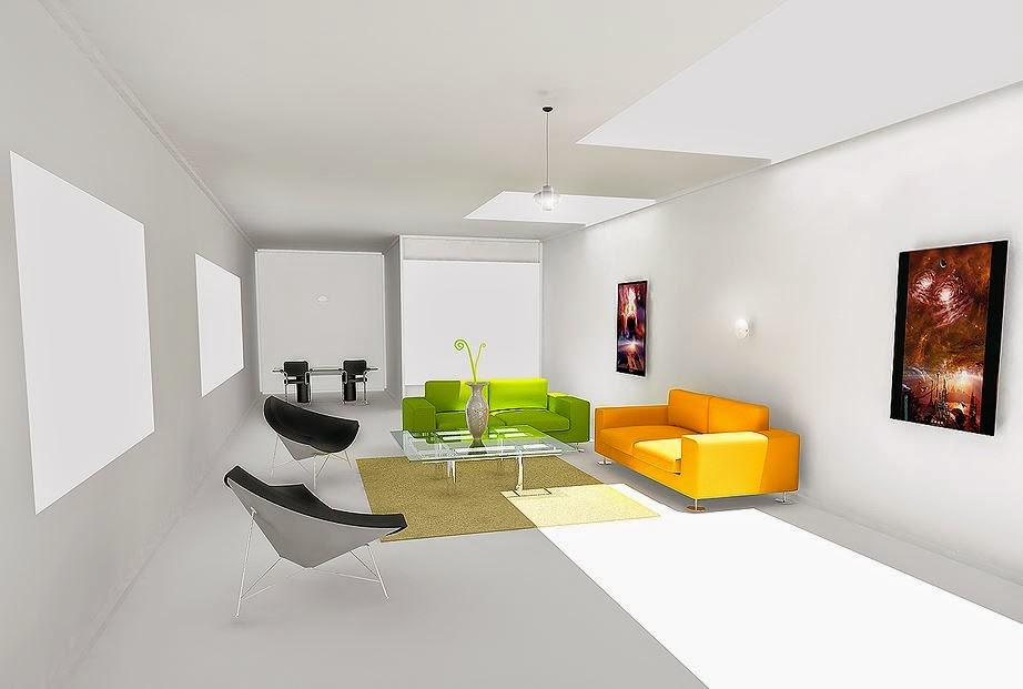 Eenvoudige Minimalistische Woonkamer Ontwerp van de Zaal | Huisontwerp