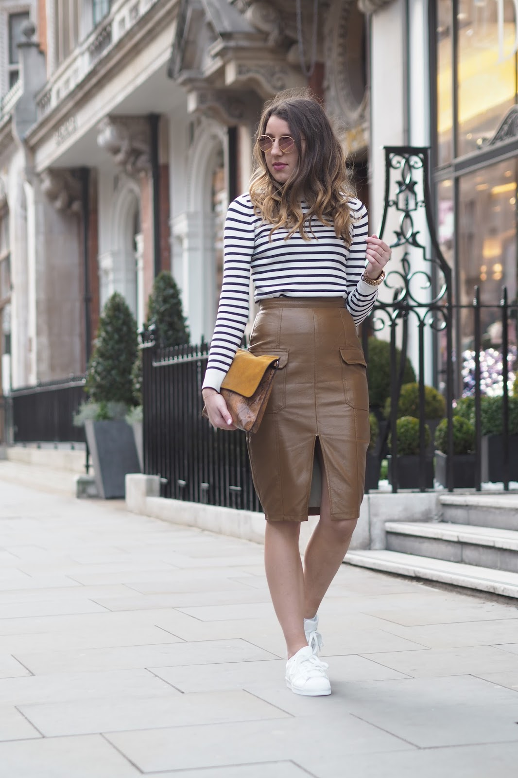 How To Dress Down A Faux Leather Pencil Skirt | What's In Her Wardrobe