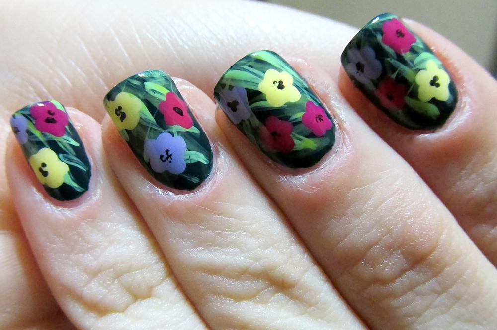 Día de los Muertos Nail Art + Orly Nite Owl Swatch!   Polished Love ♥