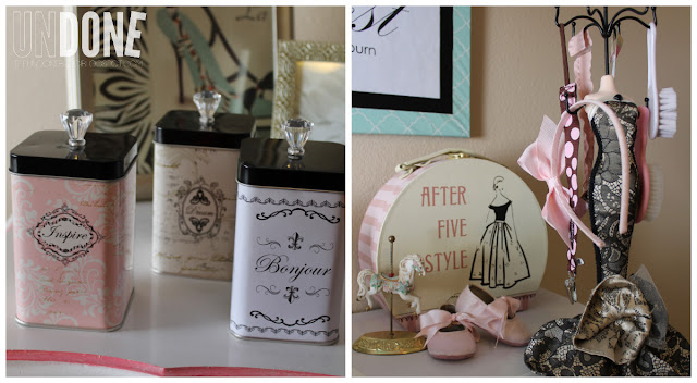 {The UNDONE Blog} Nursery details - jewelry holder for pacifiers and hair accessories