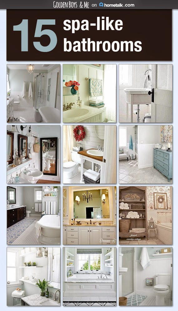 15 spa like bathrooms curated on an inspiration board by Golden Boys and Me.  www.goldenboysandme.com