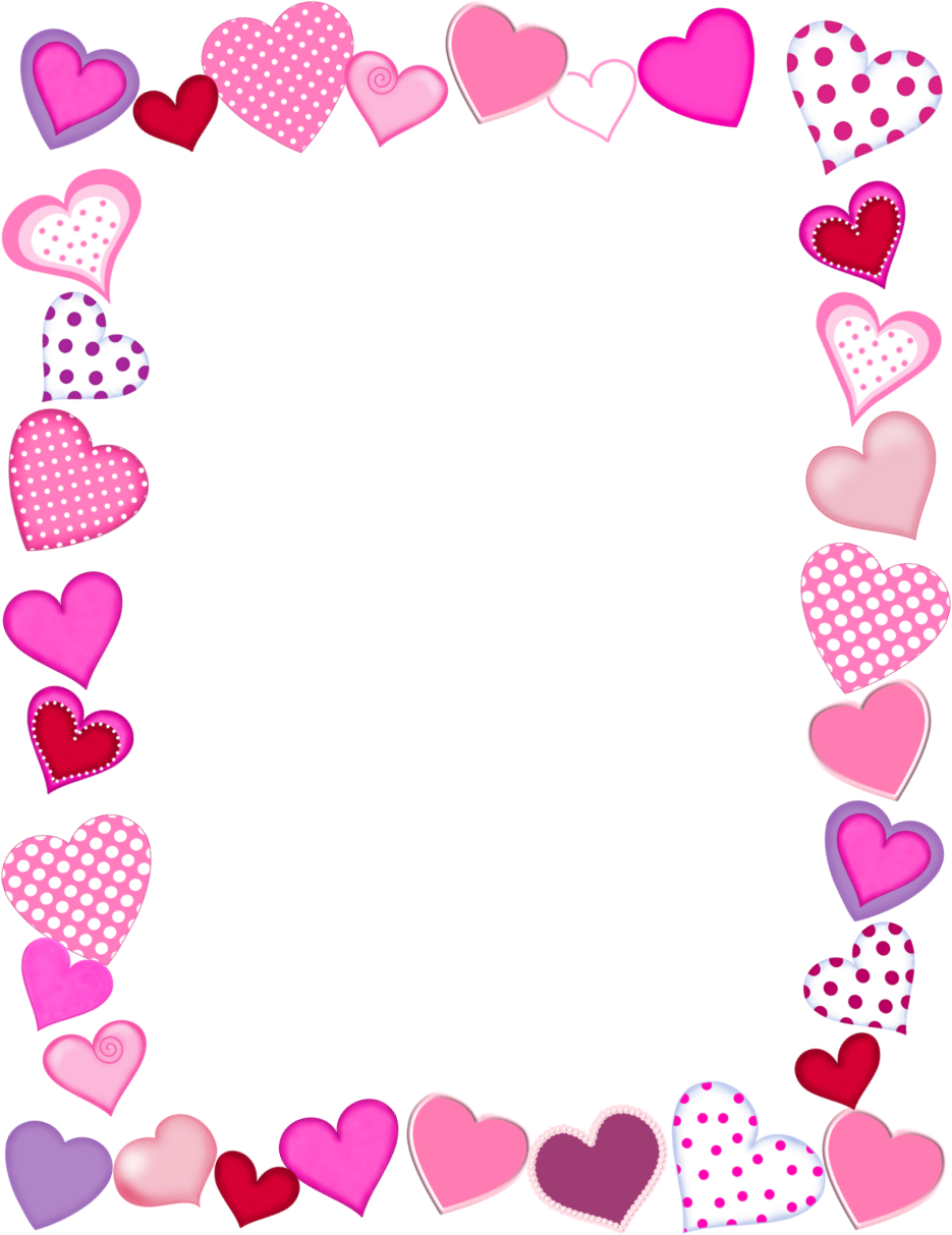 Valentine's Day Frame Borders