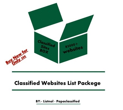 Buy Classified Websites List Packege 20000+ site are avalable for submit your Ads