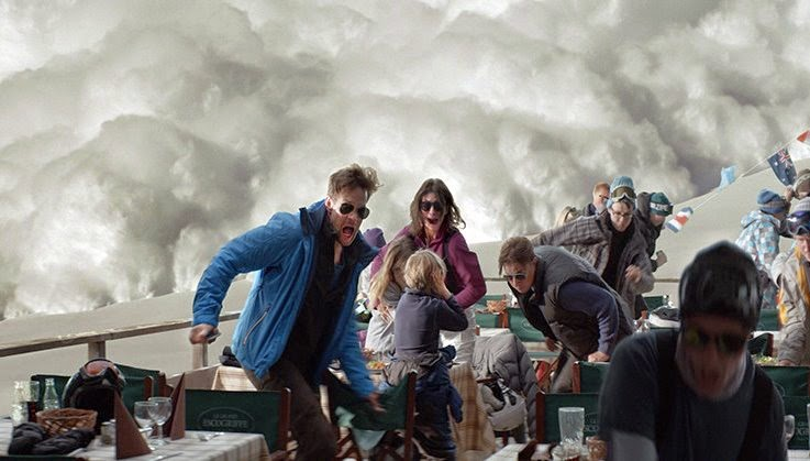 The Avalanche sequence from Force Majeure, Directed by Ruben Östlund