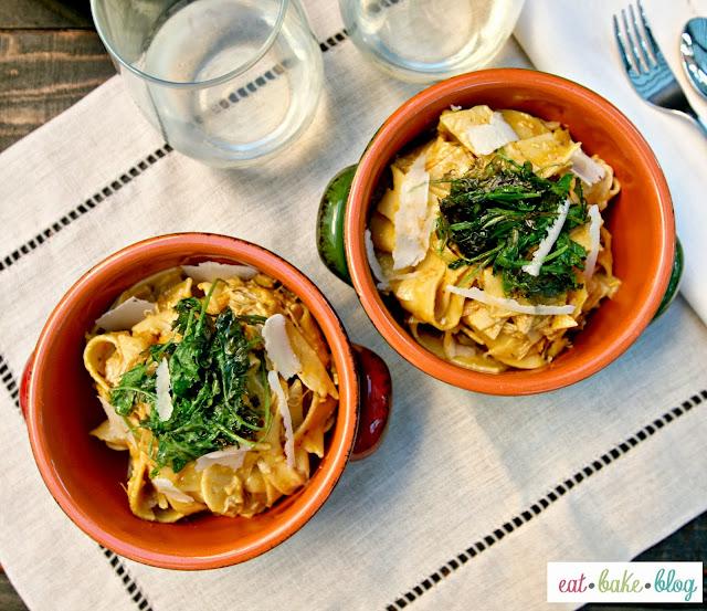 pumpkin pasta chicken pappardelle kale