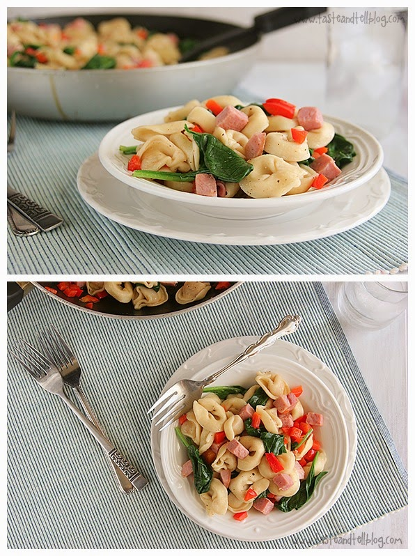 Brown Butter Tortellini with Spinach and Ham(Easter) ~ Easy Kitchen 4 ...