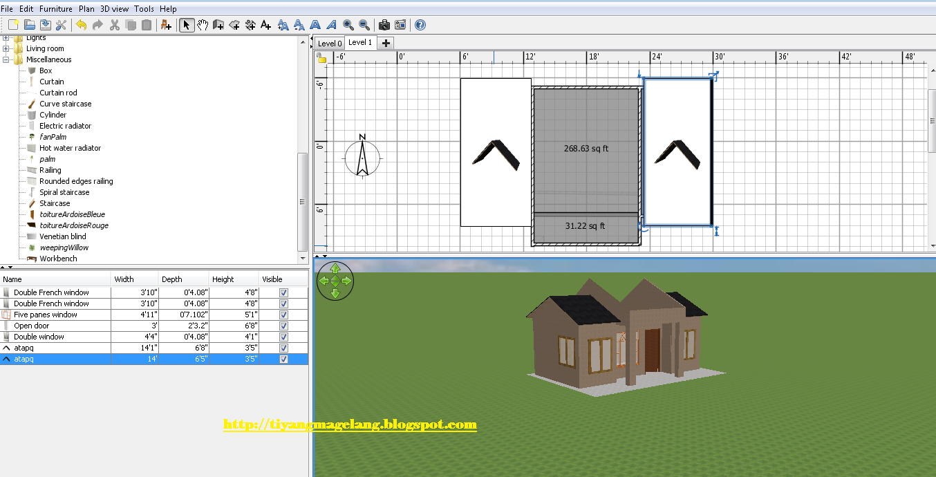 Sweet home 3d tutorial rizal amd rvh cara membuat desain for Tutorial for home design 3d