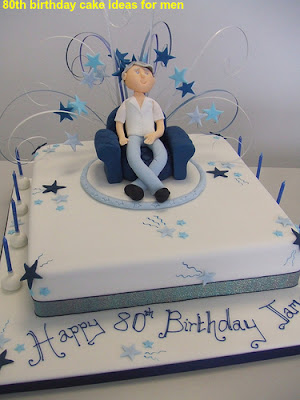 80th birthday cake ideas for men