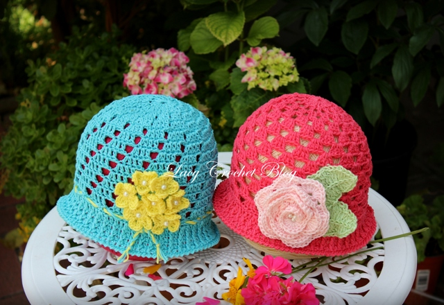 Lacy Crochet: Cloche Style Crochet Summer Hats