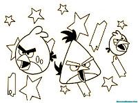 Mewarnai Gambar Angry Birds Space Dan Bintang-Bintang