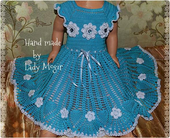 Связать красивое платье для девочки