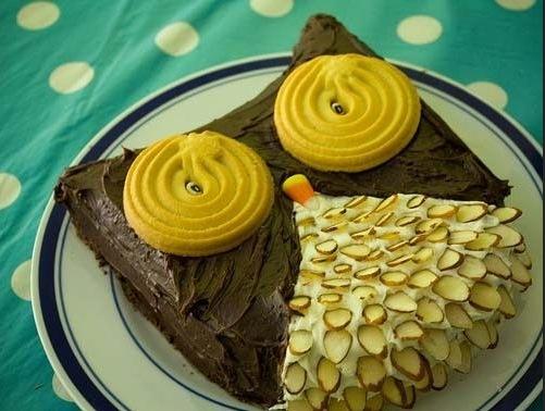 Owl kids cake