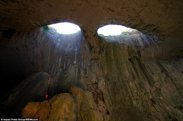 Cave that Looks like an Eye - Prohodna cave Karlukovo Bulgaria