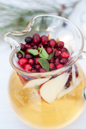 seasonal white sangria