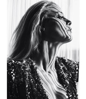 Blake Lively black and white photo from Marie Claire magazine