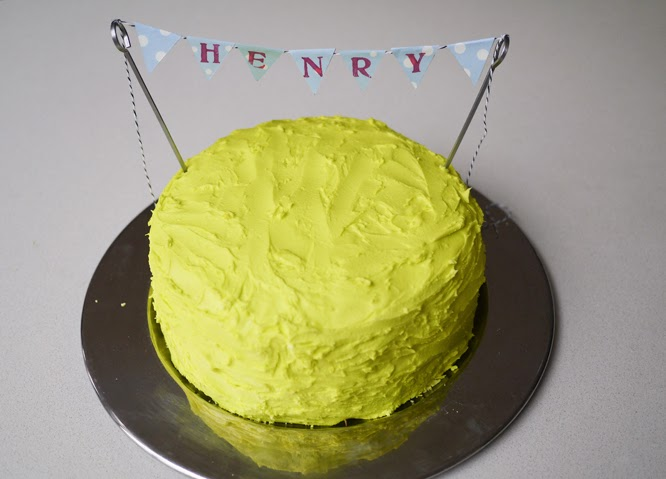 Henry's yellow birthday cake - by Alexis on somethingimade.co.uk