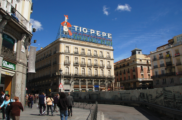 Tio Pepe Madrid Puerta Del Sol Of Arvikis Madrid El Edificio Tio Pepe Antiguo