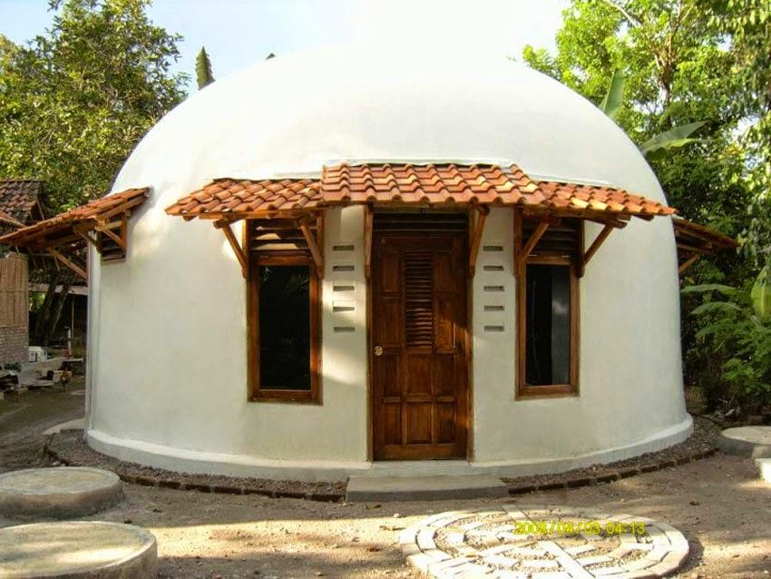 bentuk rumah sederhana dan unik serta modern di indonesia
