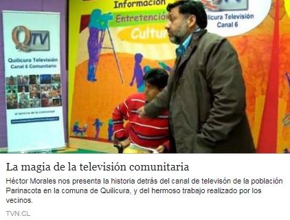 Aquí pueden ver el Programa completo de TVN, con la historia y trabajo de Quilicura TV Canal 6 .