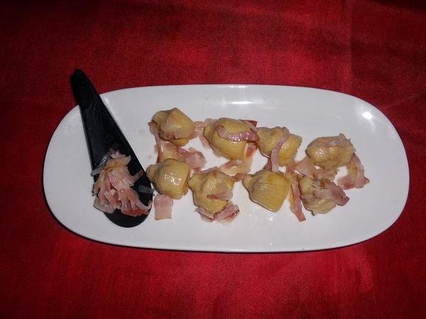 Salteado de alcachofas cynara con beicon