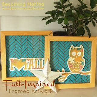 Fall Inspired Framed Artwork (by Becoming Martha)