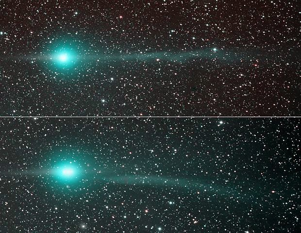C/2007 N3 (Lulin) imaged on January 31st (top) and February 4th of 2009.
