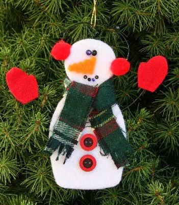 muñeco de nieve colgado