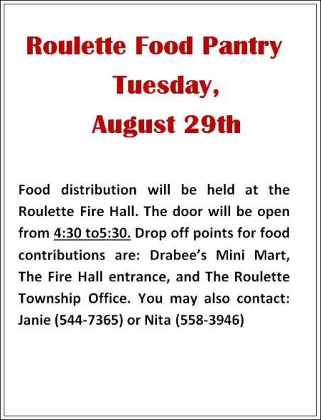8-29 Roulette Food Pantry