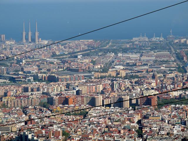 Vista de Barcelona y Sant Adrià desde Collserola
