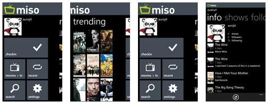 Miso app for windows phone 7