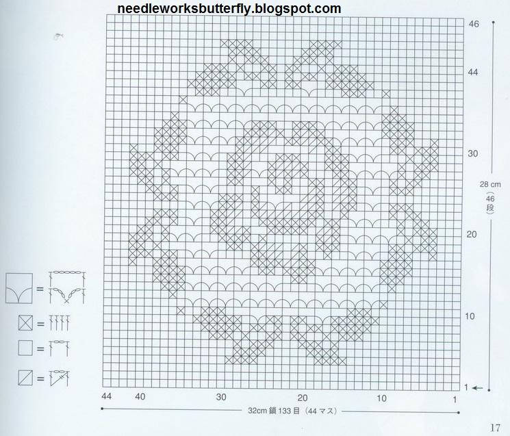 Needle works butterfly filet crochet doilies with patterns needle works butterfly ccuart Gallery