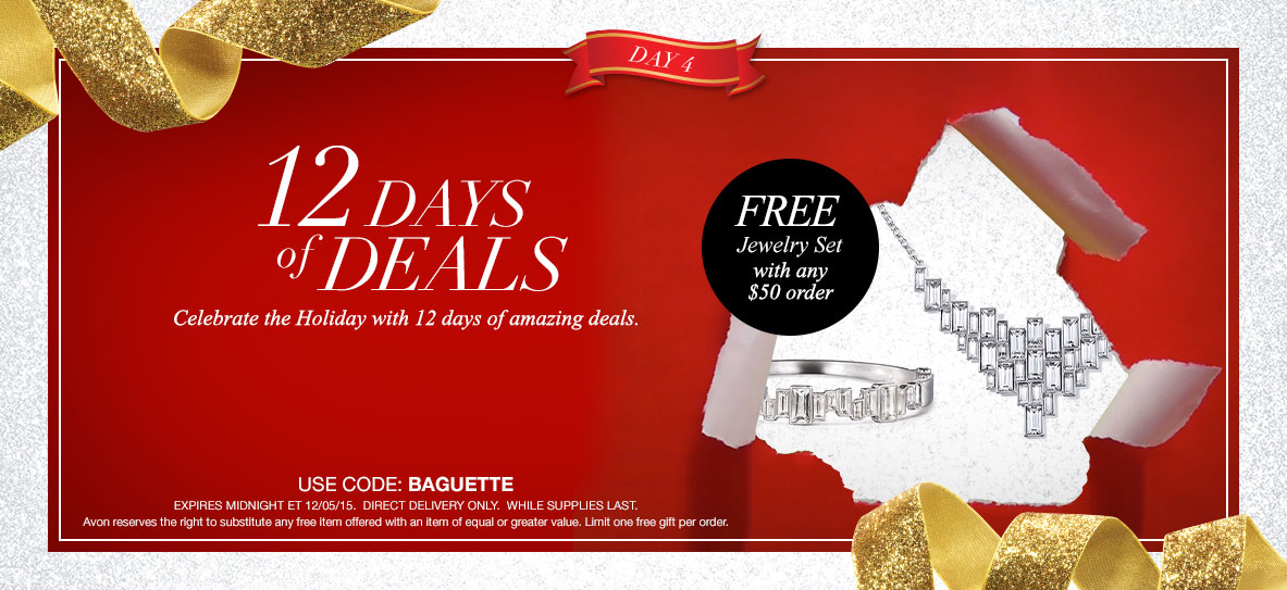 Avon Free Gift With Purchase Day 4 - December 2015