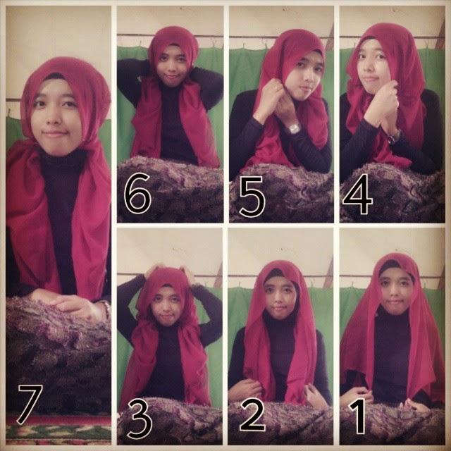 tutorial hijab indah nada puspita,ellends muzakky,tutorial hijab ...