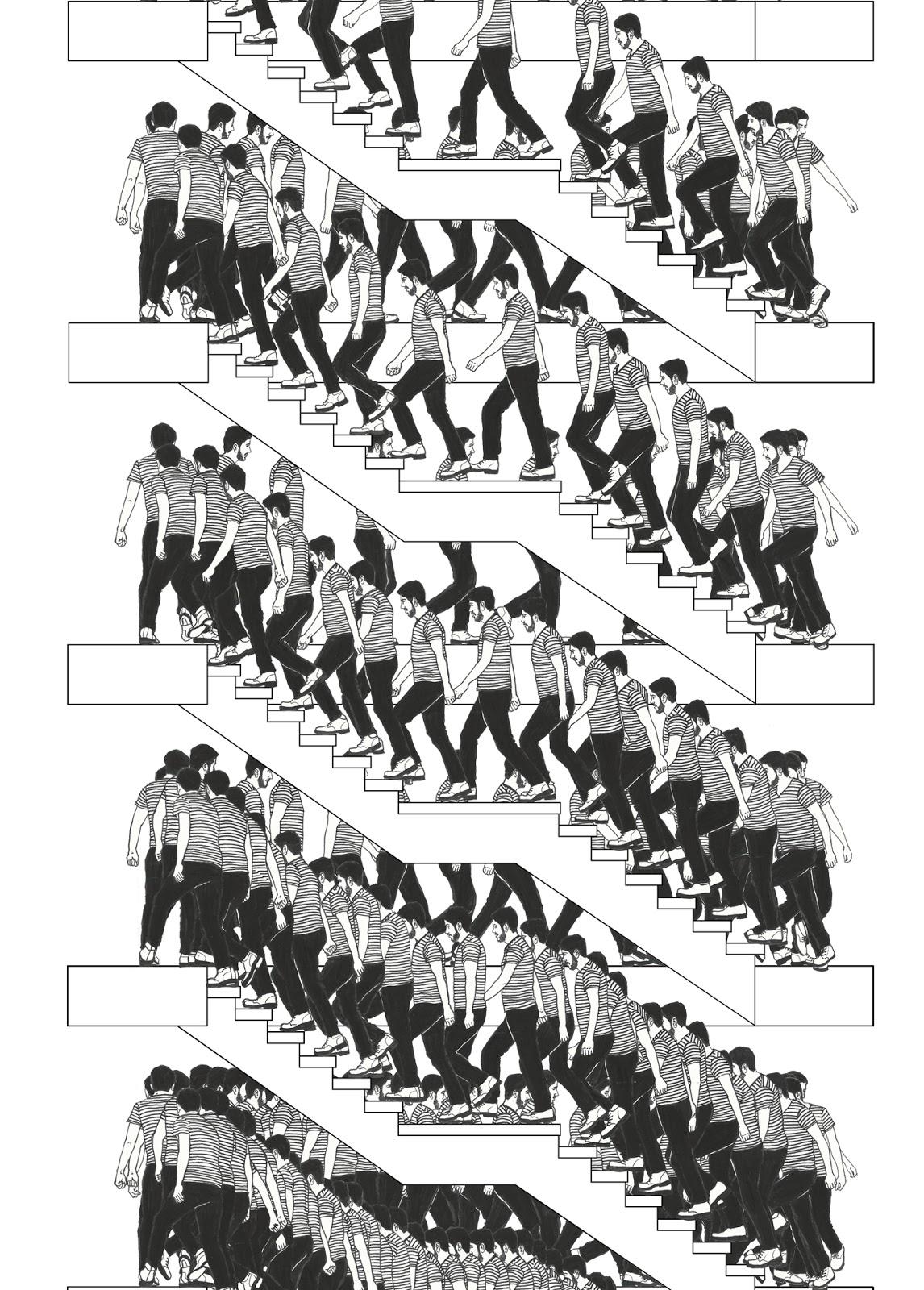 Manuel calder n dibujos escaleras infinitas for Escaleras infinitas