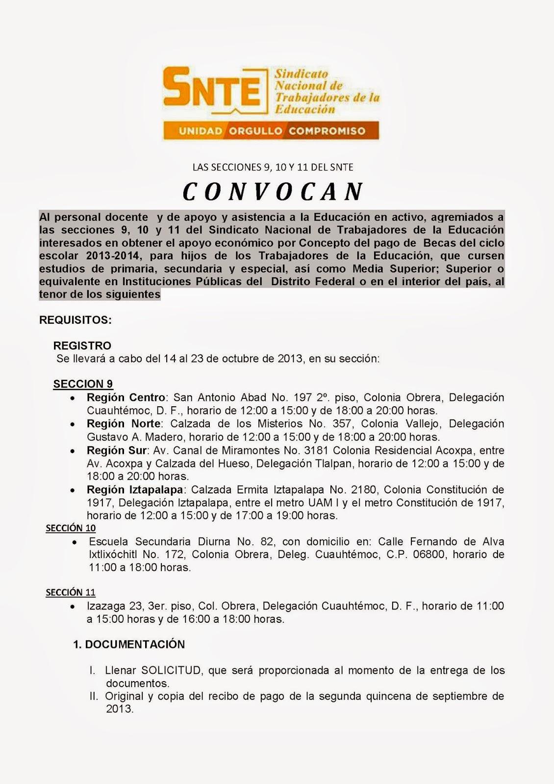 Delegacion sindical secundaria diurna no 83 presidente for Convocatoria para docentes
