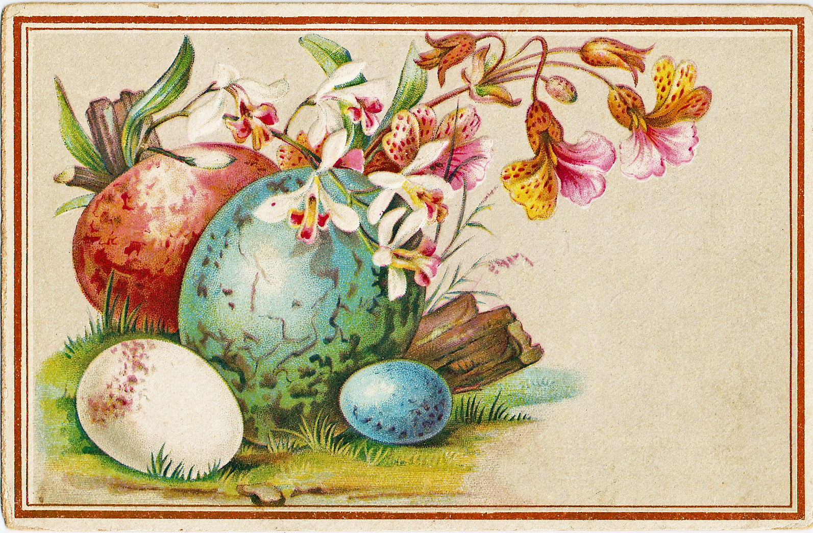 catnipstudiocollage free vintage clip art easter eggs trade card