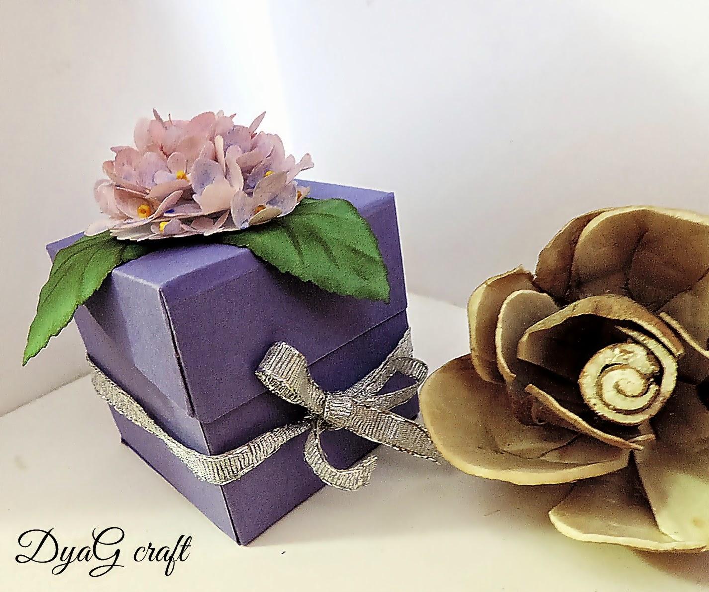 cutie pentru marturii tema lila