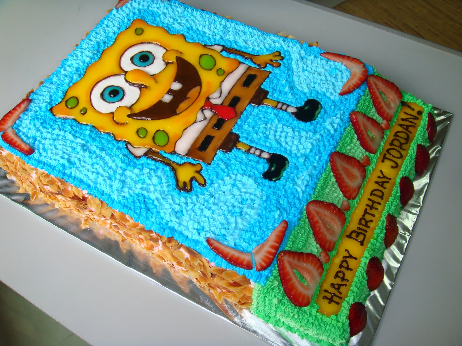 Spongebob squarepants cake panspongebob cakes homemadespongebob