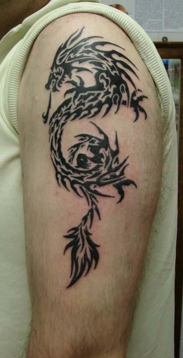 latest updates tribal dragon tattoo designs. Black Bedroom Furniture Sets. Home Design Ideas
