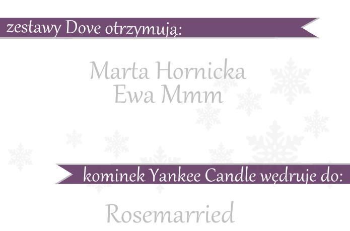 Wyniki świątecznego rozdania z Dove