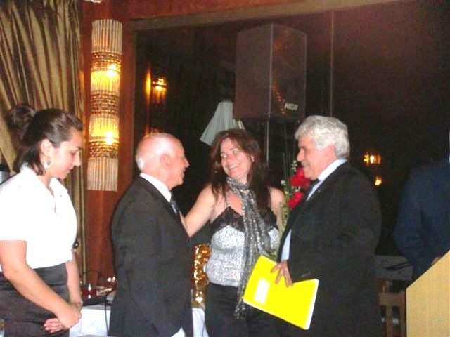 Rotary International fellowship night and Carlos Mateus membership Initiation in Balneario Camboriu