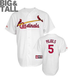 Big and Tall Albert Pujols St. Louis Cardinals Jersey