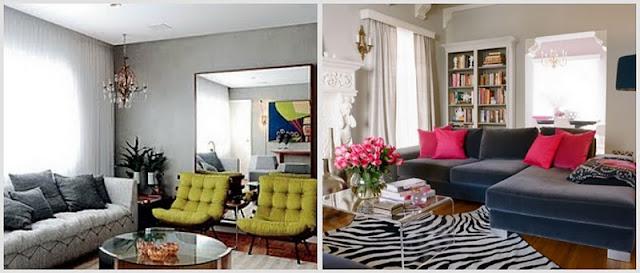 Sala De Estar Cinza Azul E Amarelo ~ Cores vibrantes em ambientes são o destaque deste ano na decoração