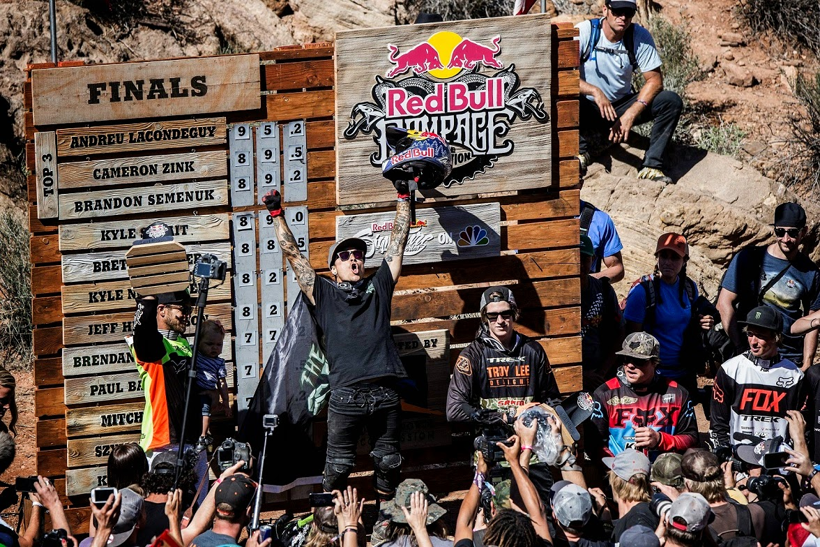 podium red bull rampage 2014