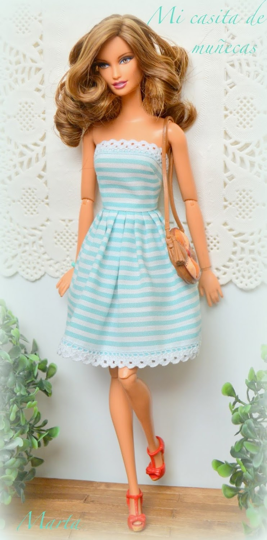 Barbie Basics Jeans Lara. OOAK, reroot.