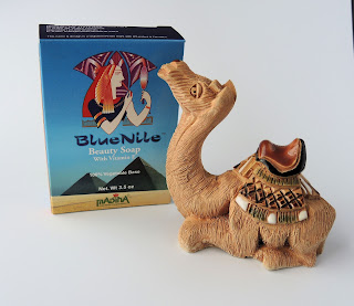 Blue Nile soap and vintage camel figurine