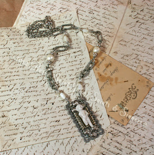 Antique Frozen Charlotte Necklace